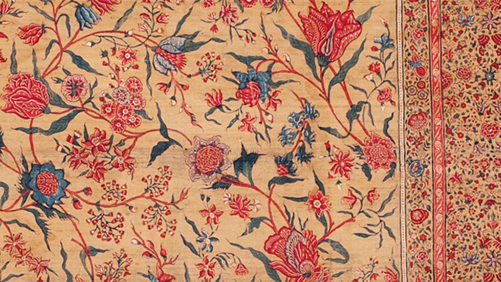 Sarong Atlas Original Red Flower Tumpal